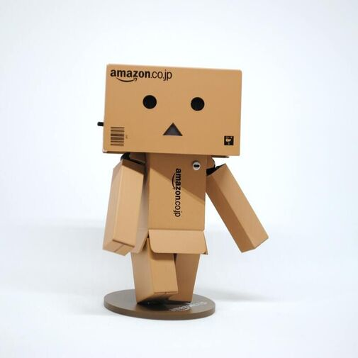 Amazon Robot Made of Cartons